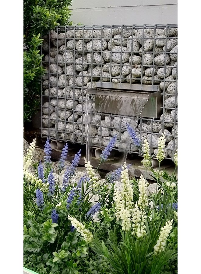 Artificial blue lavender bush for outdoor