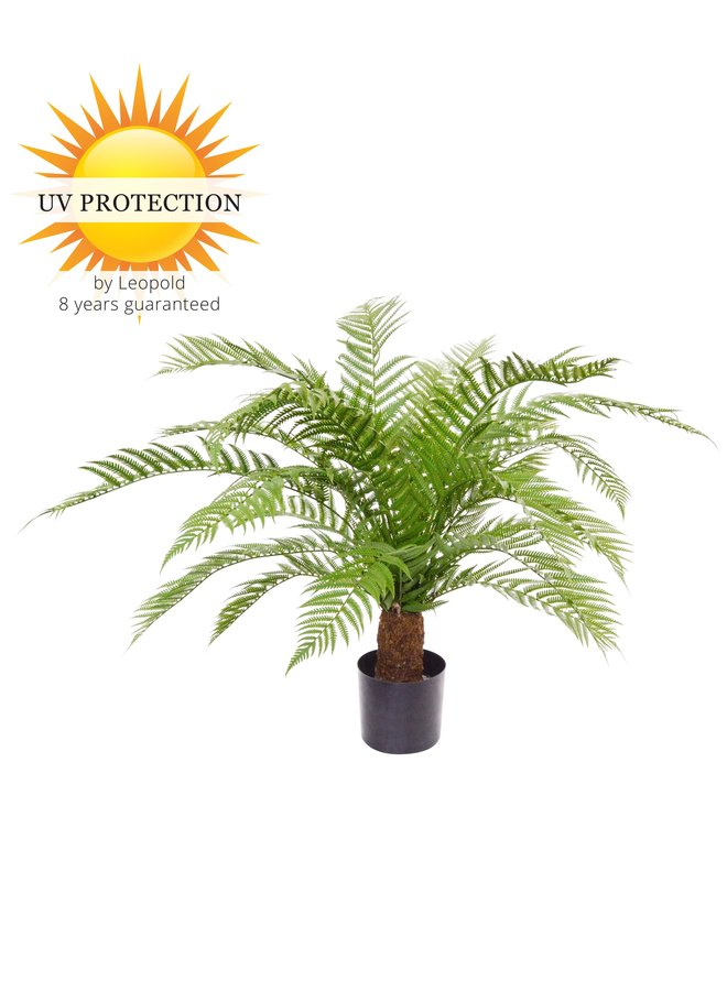 Outdoor Artificial Fern XXL 80 cm UV protected in pot
