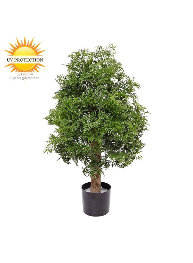 Artificial Ming Aralia plant 95 cm UV protected  in pot for Outside