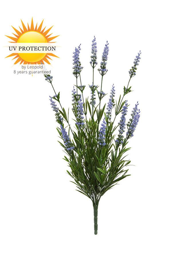 Blauw bloeiende lavendel kunstbloemen in boeketvorm voor buiten
