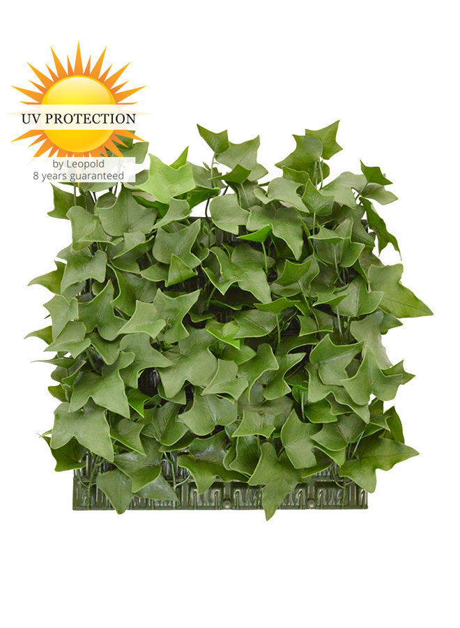 Artificial outdoor Ivy mat 25x25 cm UV protected
