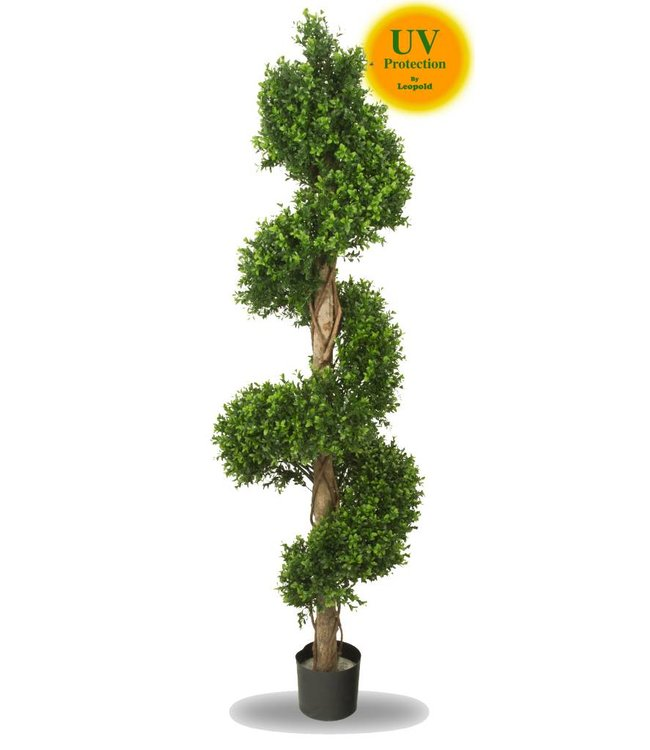 Large artificial boxwood spiral tree 170 cm UV for outdoors