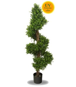Artificial boxwood spiral tree 140 cm UV