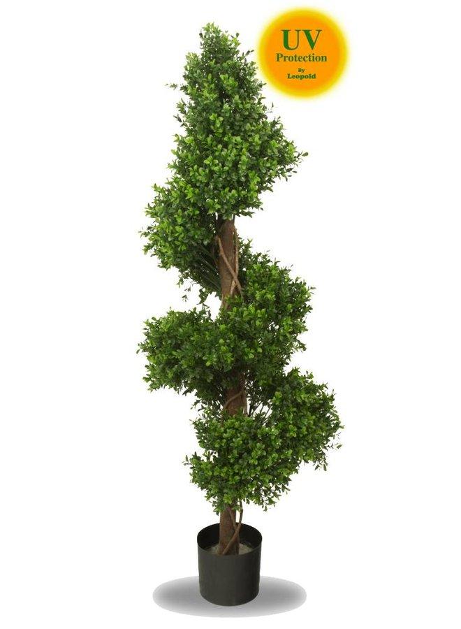 Kunst buxus Spiraal 140 cm UV