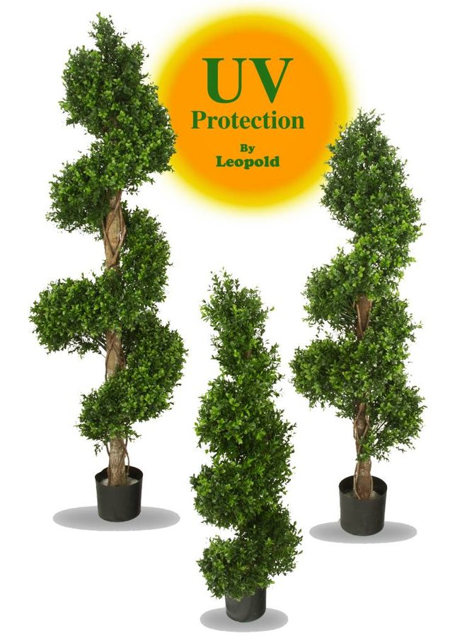 Outdoor artificial Boxwood Spiral tree 140 cm UV protected