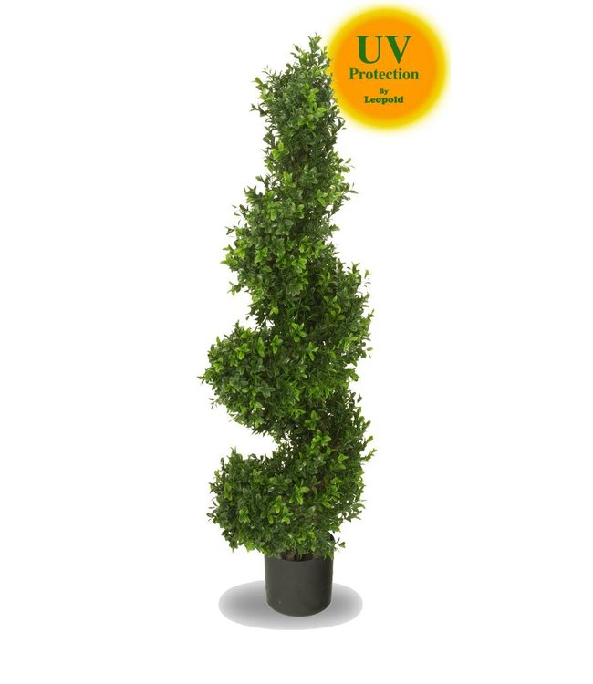 Outdoor artificial boxwood spiral tree 100 cm UV