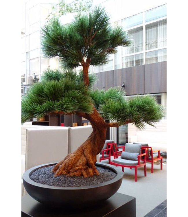 Outdoor artificial Bonsai Pinus tree 80 cm UV with 5 layers
