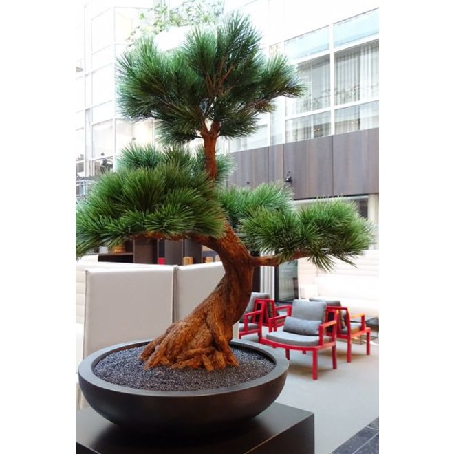 Kunststof Bonsai Pinus boom 80 cm UV voor buiten met 5 etages