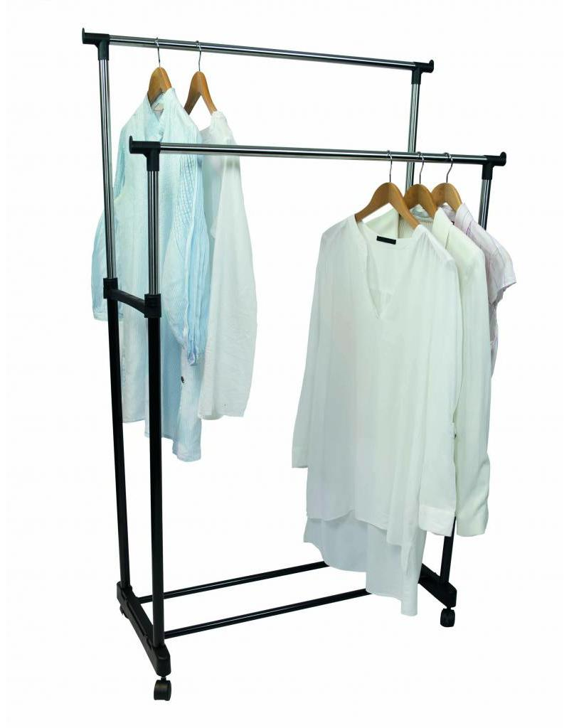 Double Mobile Clothes Rack