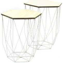 Set of 2 side tables White