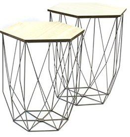 Set of 2 side tables Grey