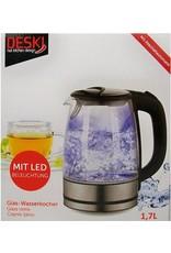 Deski Glass Kettle 1.7L with LED lighting