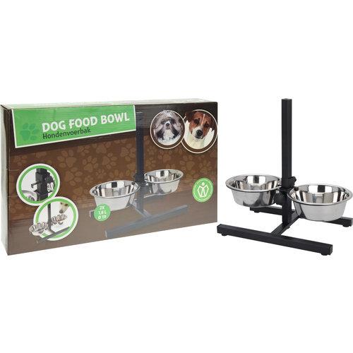 Dog food bowl set 2x 1800 ml