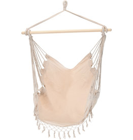Merkloos Beautiful summer hanging chair - Cream