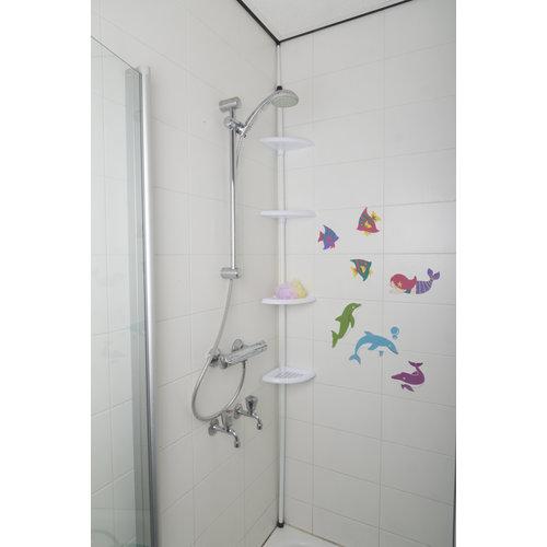 Telescopic bathroom rack