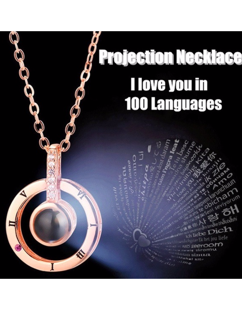 Parya Official  Necklace with projection (I love you)