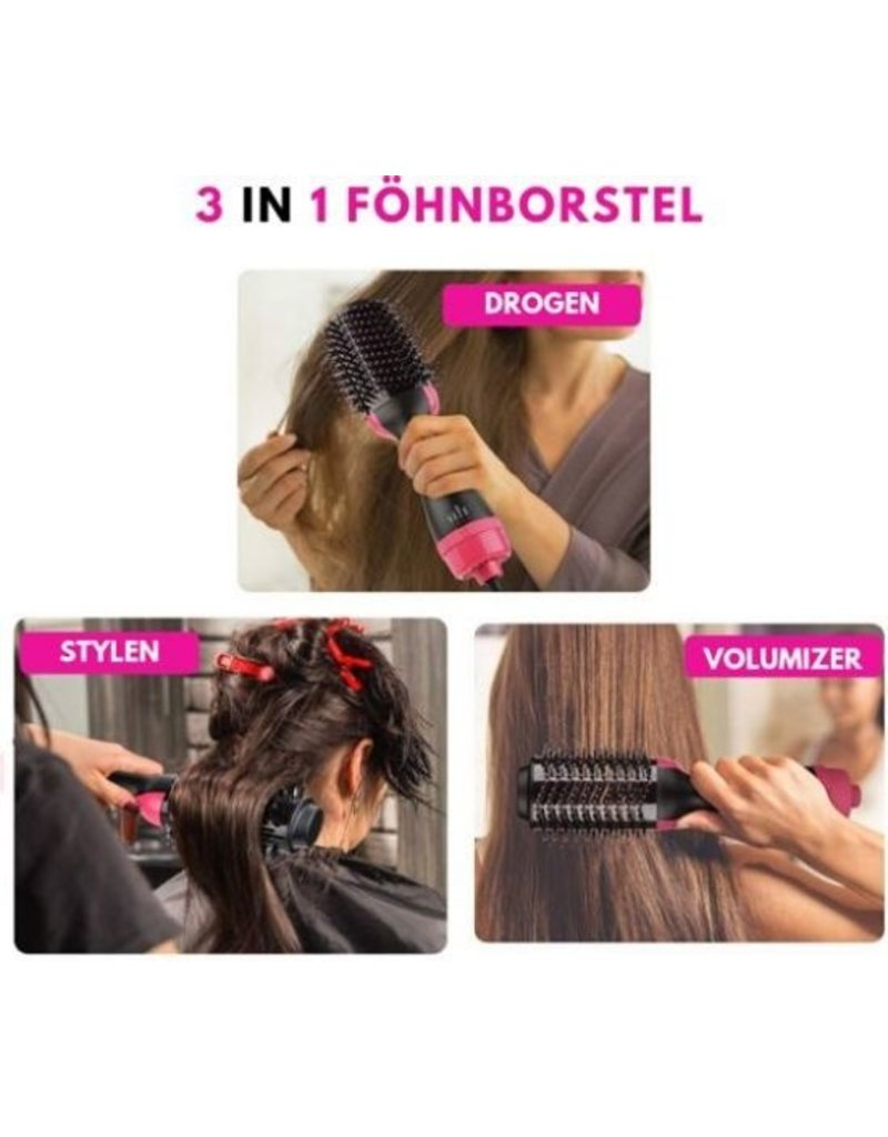 Merkloos 3 in 1 Hair dryer - Hair dryer - Multistyler