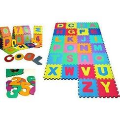Speelmat 36 tegelen Alfabet en cijfers 1 tot 10