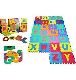 Monzana Speelmat 36 tegelen Alfabet en cijfers 1 tot 10