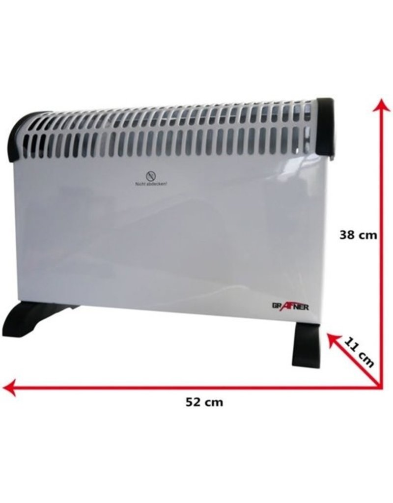 Grafner Convector heater with timer