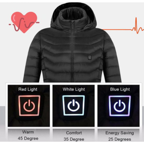 Electrically heated jacket (by USB)