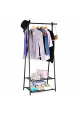 Merkloos Metal clothingrack with 2 layers for shoes
