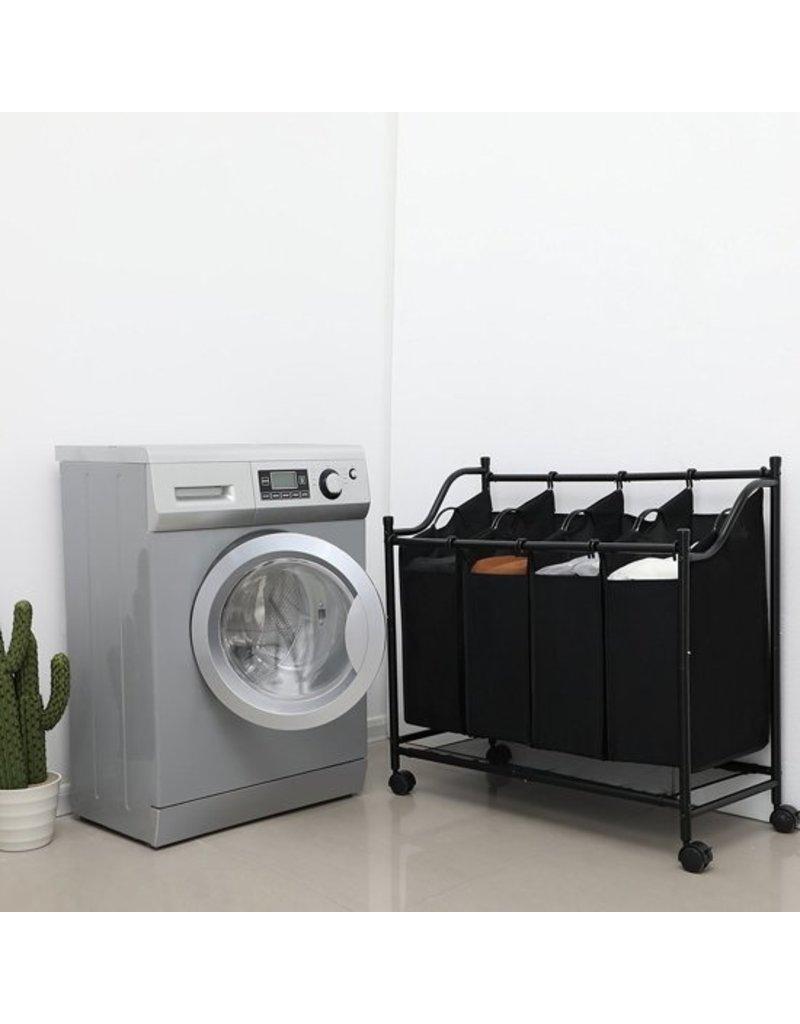 Merkloos Laundry sorter laundry basket on wheels - 4 Laundry bags