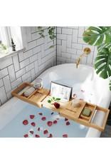 Merkloos Extendable bath rack bamboo