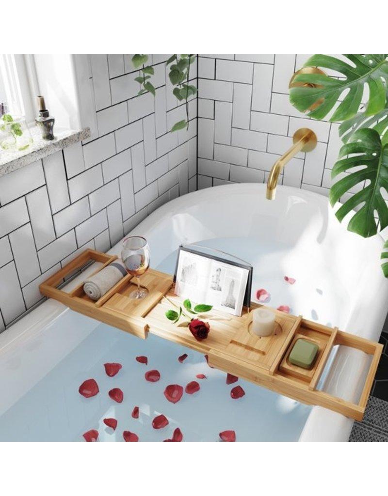 Merkloos Uitschuifbaar badrekje bamboe