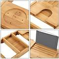 Extendable bath rack bamboo