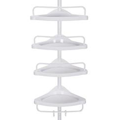 Extendable shower rack with four shelfs