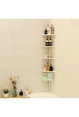 Merkloos Extendable shower rack with four shelfs