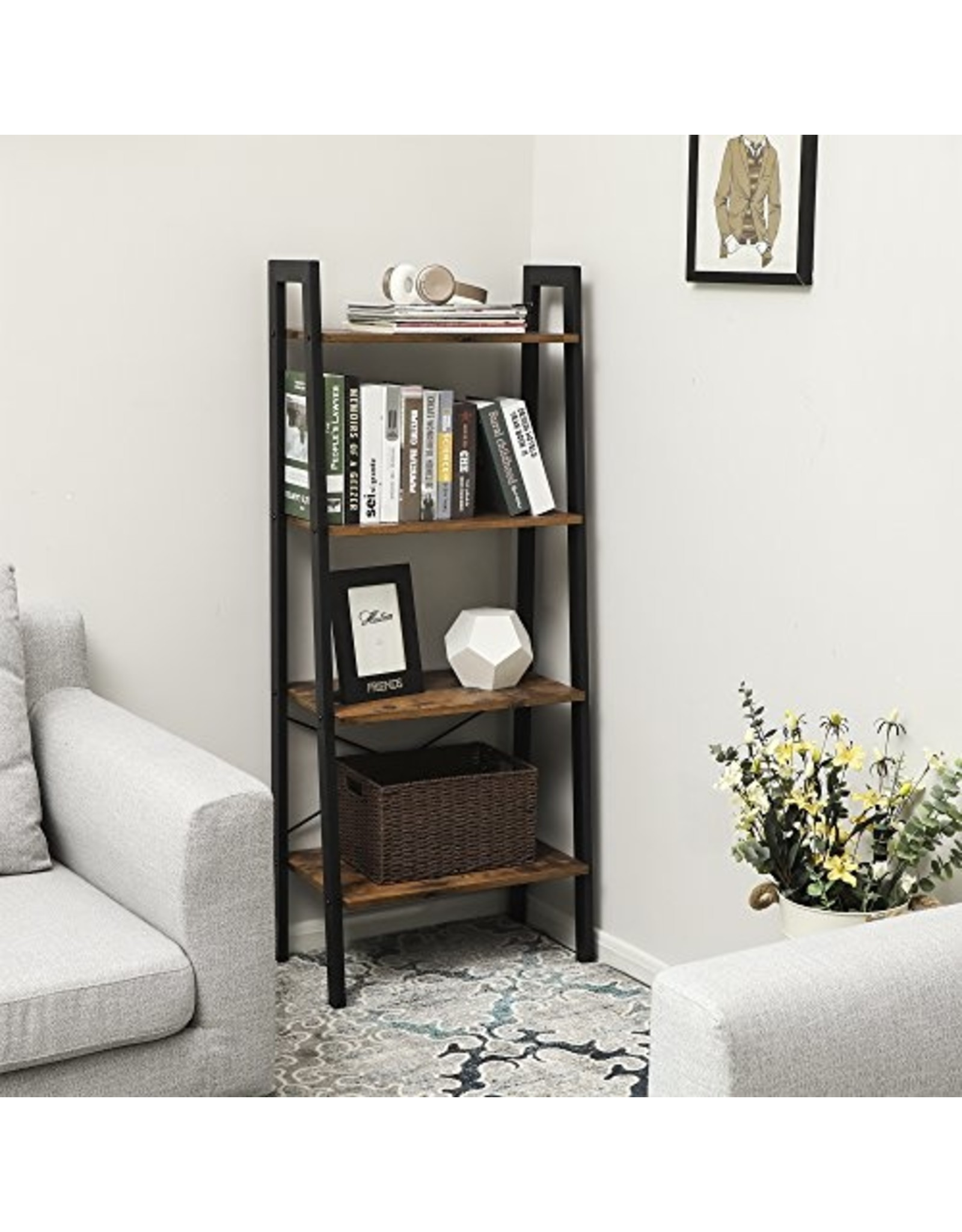 Merkloos Bookcase with four shelfs