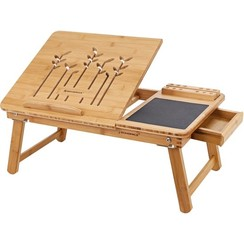 Bamboe laptoptafel inclusief muismat en telefoonhouder