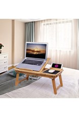Merkloos Bamboe laptoptafel inclusief muismat en telefoonhouder