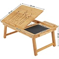Bamboo laptop table, mousepad and telephoneholder included