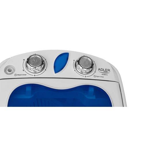 Adler -  Mini wasmachine met centrifuge - AD 8051