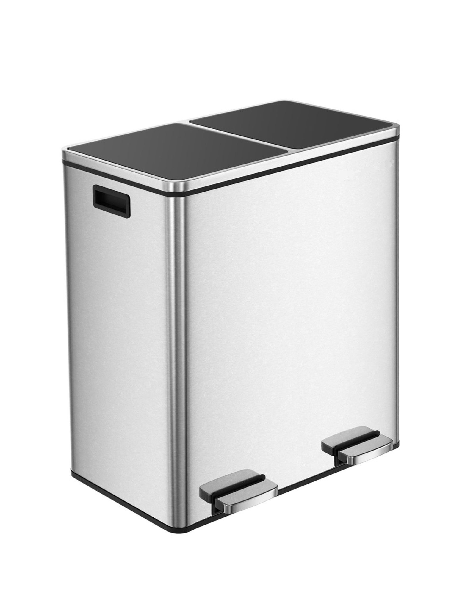 Parya Home Trash Can 60L - Stainless Steel - Waste separation system