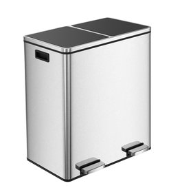 Parya Home Prullenbak 60L - Roestvrij Staal - Afvalscheidingssysteem