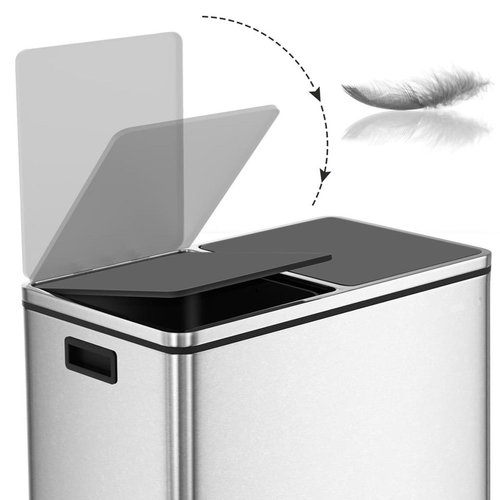 Trash Can 60L - Stainless Steel - Waste separation system