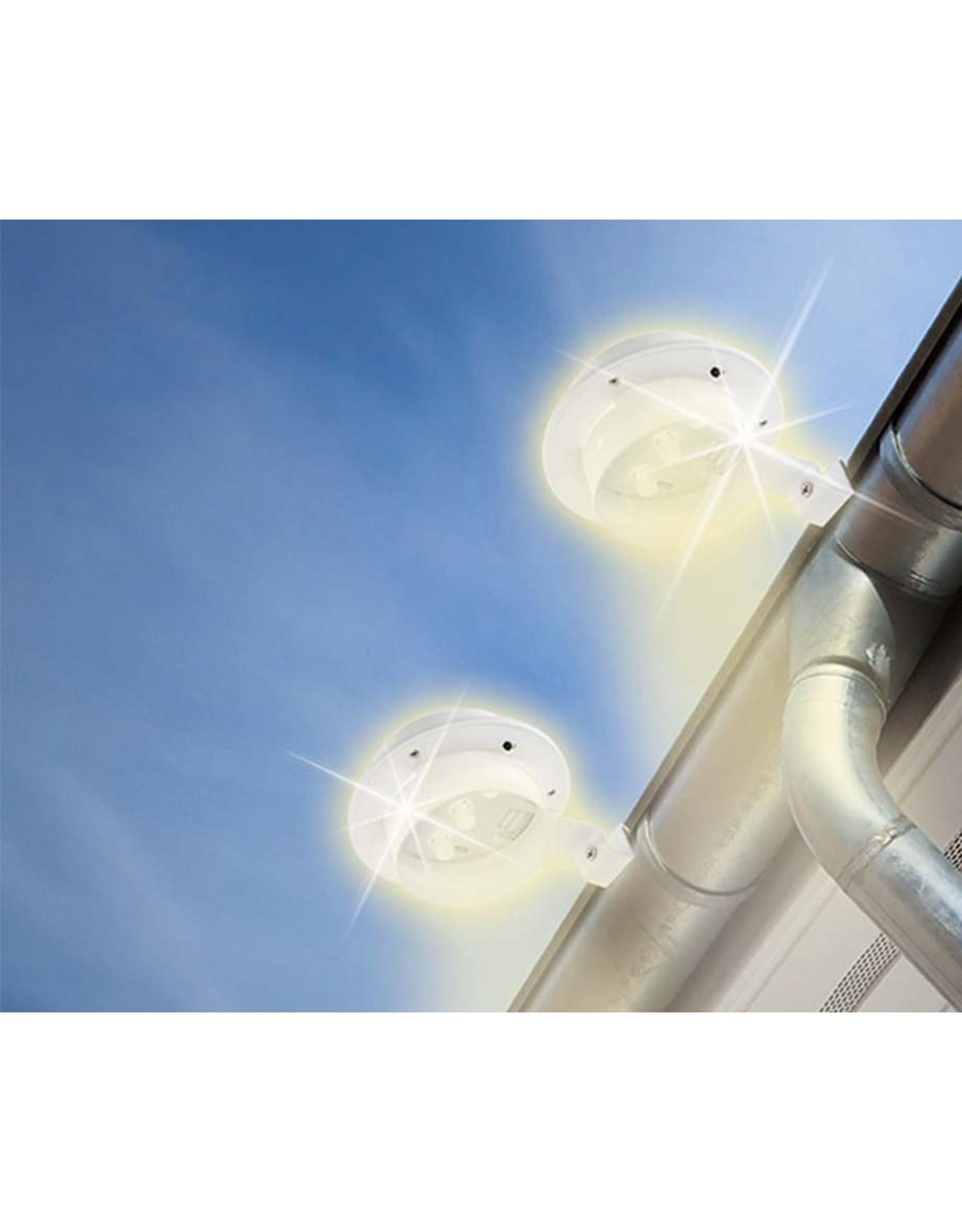 Grundig Grundig - Solar schutting- en dakgootlamp