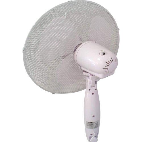 Statief ventilator - 40 cm diameter - 3 standen - Wit