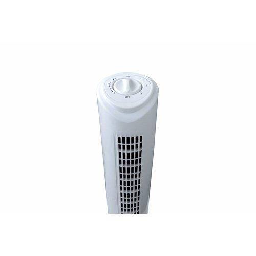 Toren ventilator - 79 cm hoog - 3 standen - wit