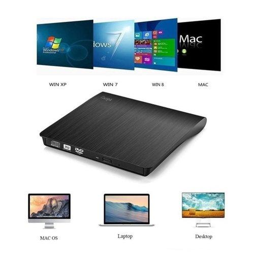 Parya Official - Plug & Play - External CD/DVD Combo Drive Player