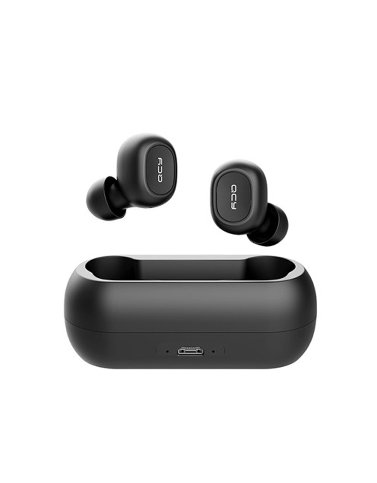 QCY QCY T1C Volledig draadloos In-Ear oordopjes (ZWART) | Bluetooth 5.0
