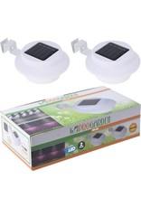 pro garden Progarden - Solar schutting- en dakgootlamp - set van 2
