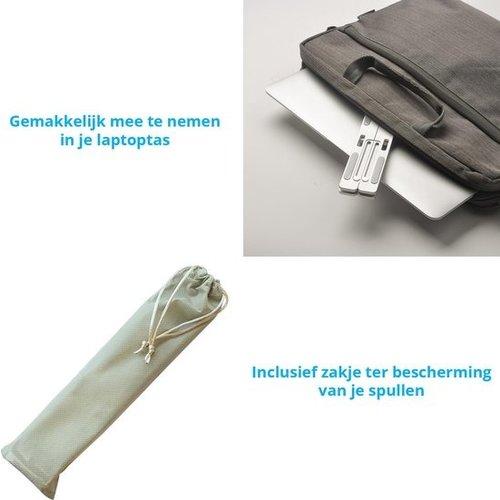 Laptop en tablet Standaard - Verstelbaar en Opvouwbaar - Aluminium