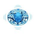 Vliegende Intelligente UFO - Blauw