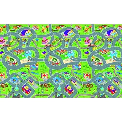Eddy Toys speelmat - verkeer - 120 x 100 x 0,3 cm - eva-schuim