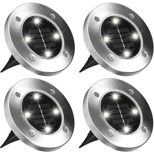 Grundig Grundig floor lamp - solar - 4 pieces - 4 LEDs - stainless steel